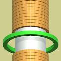 Stack ball run race 3D icon
