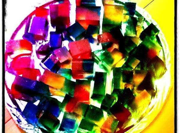 Rainbow Jello Cubes Recipe