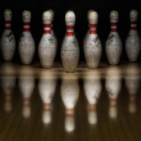 Kingpin by Matthias Weigel - Sports & Fitness Bowling ( reflection, hdr, bowling )