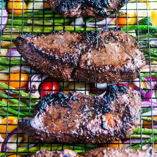 One Pan Balsamic Steak and Veggies.