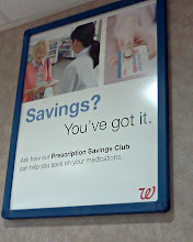 Photo: Waiting in line I snapped this other sign, I am noticing a lot of the savings club signs!