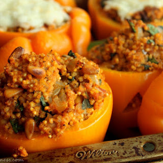 Meatless Stuffed Peppers with Millet.