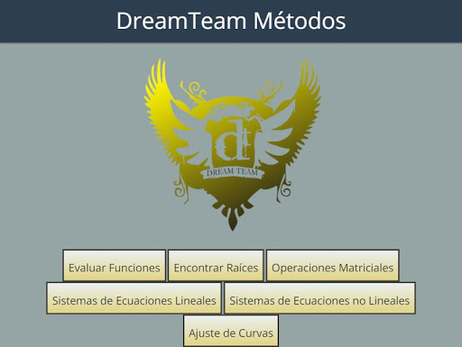 Métodos Numéricos DreamTeam app (apk) free download for Android/PC/Windows screenshot