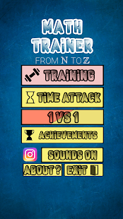 Math Trainer pro: From N to Z - náhled