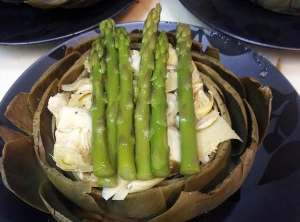 Artichoke Salad With Asparagus Recipe