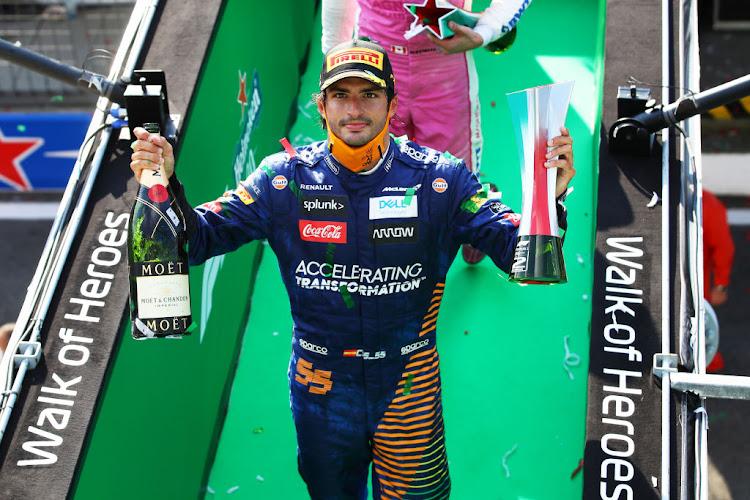 Future Ferrari driver Sainz gets a taste for Monza podium