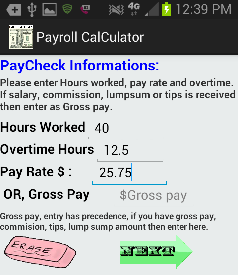 accurate pay calculator noad android apps on google play