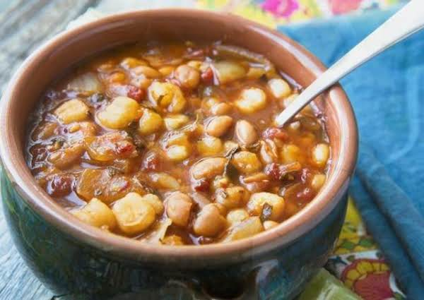 Vegan Posole With Ground Chiles