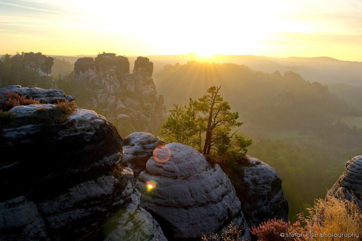 Photo: Sächsische Schweiz Felsen Landschaft Morgendämmerung - Foto von Stefan Hille