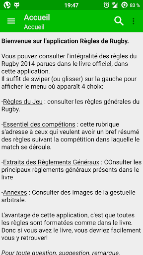 Règles de Rugby 2014 2015