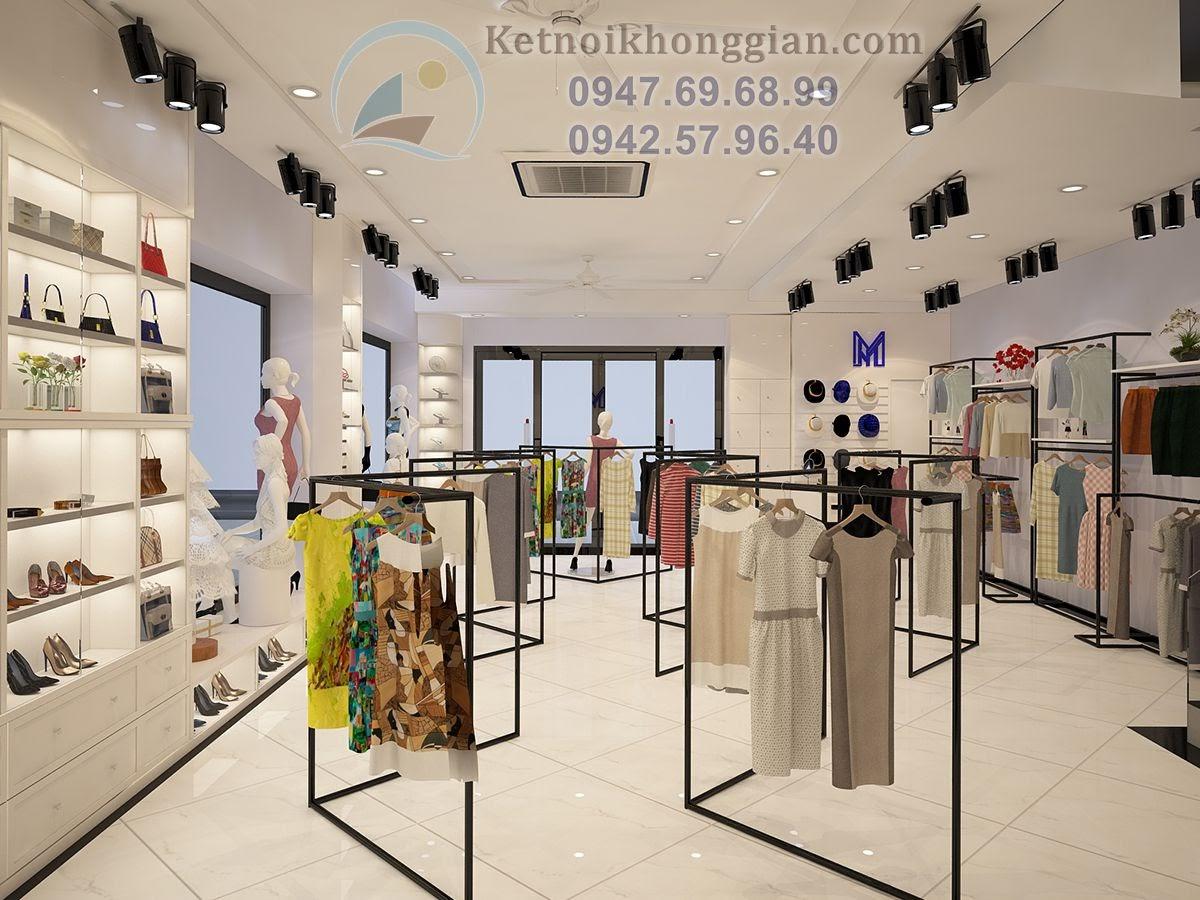 thiết kế cửa hàng thời trang nữ đẹp mắt