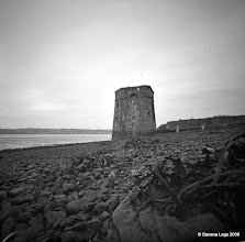 Photo: Martello Tower on Fort Road Beach. 37mm focal length 6x6 Fuji ACROSS 100