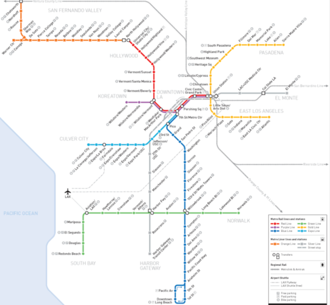 Map Of La Subway