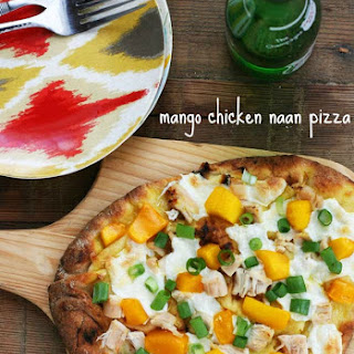 Mango Chicken Naan Bread Pizza.