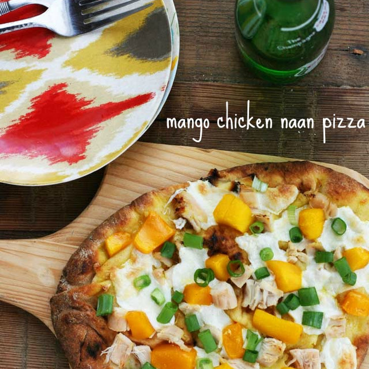 Mango Chicken Naan Bread Pizza Recipe