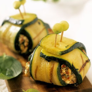 Stuffed Courgette Parcels.