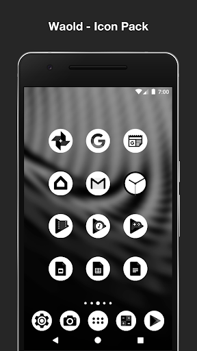 Black and White Icon Pack: Waold screenshot