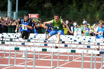 Photo: Daniel Ryan, Tipperary in action in the Boys U/14 80m Hurdles at the National Community Games Finals 2011
