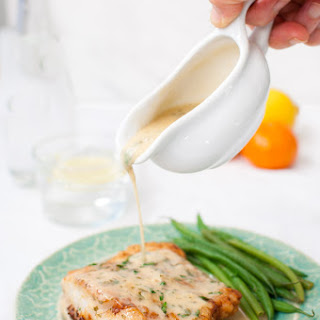 Pan Fried Fish with Citrus Butter Sauce.