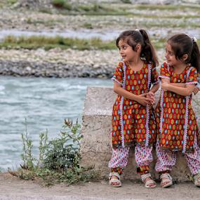 Enjoying  by Kamran Khan - Babies & Children Children Candids ( portraiture, swat photography, malalai jan, children, swat valley, kami.pk, kamran khan, landscape, gulalai jan, portrait )