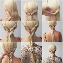 DIY hairstyles step by step icon