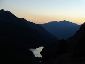Photo: Ref des Bésines, 2104m, tramonto sul lago.