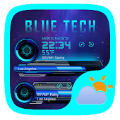 Bule Tech Weather Widget Theme