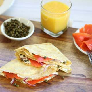 Smoked Salmon & Caper Crepes.