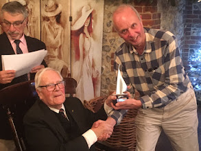 Photo: All prizes presented by Mr Peter Montague - Most Improved sailor  - Ian Self