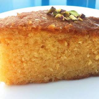 Greek Ravani / Revani recipe (Coconut cake with syrup).