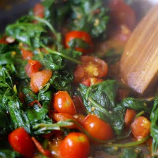 Spinach Tomato Saute.