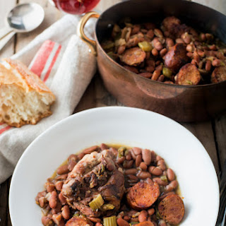 Spicy Red Beans with Chicken Thighs and Andouille