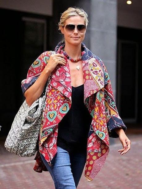 outer batik Heidi Klum