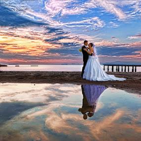 by Vasilis Tsesmetzis - Wedding Bride & Groom