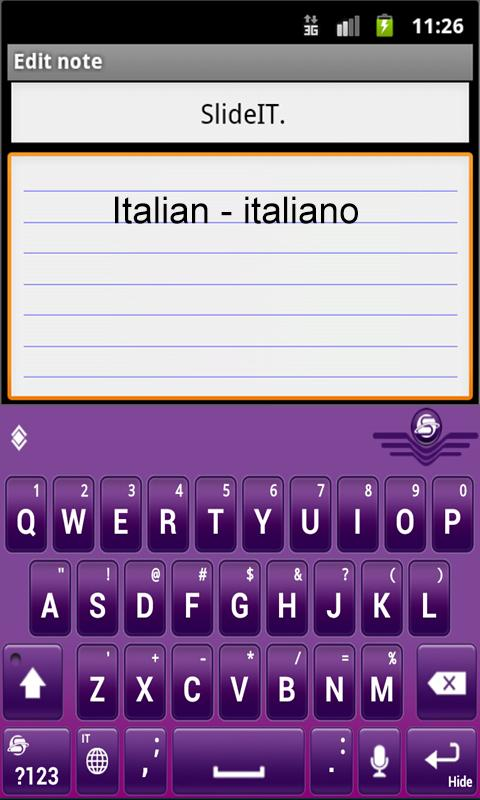 Скриншот SlideIT Italian Pack
