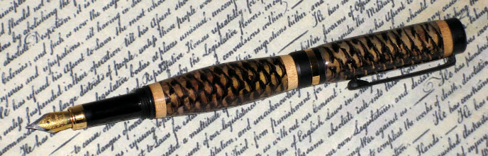 Photo: Fountain Pen made with pine cones #56