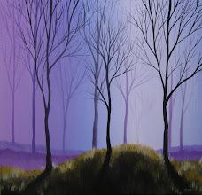 Photo: Purple Trees - 20x20 Acrylic on Canvas