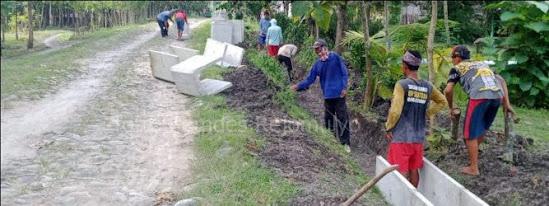 Pembangunan di Desa Rejomulyo Ngawi