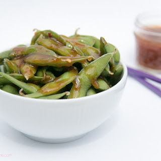 Edamame Soybeans with Sweet and Spicy Dipping Sauce Recipe