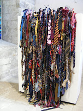 Photo: There are interior rooms devoted to contemporary art exhibits, as here – neckties?