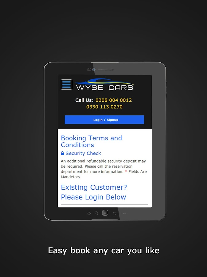 Wise Car Hire- screenshot