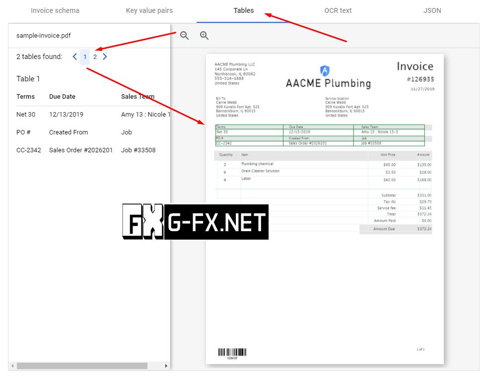 Google Document AI Example 3