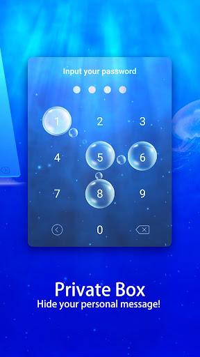Messenger SMS - 3D Ocean Theme, Call app, Emojis screenshot 4