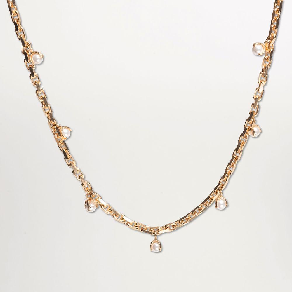 Cornelia Webb, guldpläterat pärlhalsband