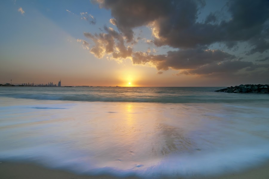 Sunset by Walid Ahmad - Landscapes Sunsets & Sunrises ( dubai, sunset, uae, beach )
