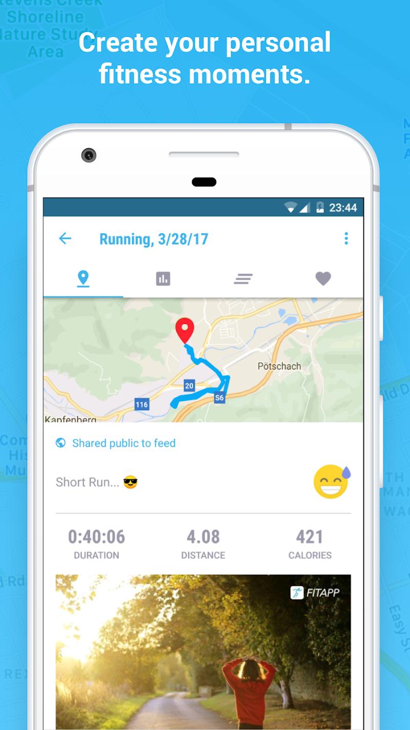 Running Walking Jogging Hiking GPS Tracker FITAPP Screenshot 3