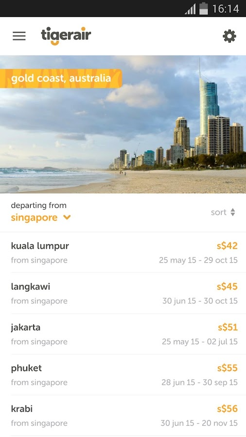 tigerair- screenshot