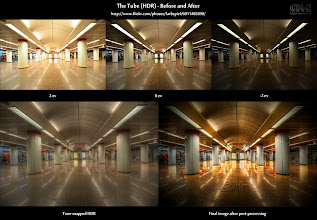 """Photo: Before-and-After - The Tube (HDR)  Share if you dare! ;-)  Hey guys! I thought I'd just throw in another goody here before I go to bed (well, not just yet). Here's the before-and-after of the Tube shot I posted some hours back. You can find all my before-and-after images at http://wp.me/pZoHG-oG. The original image can be seen here: http://flic.kr/p/aadrjs.  Oh, while you're there, make sure you go to """"Order print"""" on each one of them, type in your credit card number and click 'Buy!'... Ok, I had to try this. Sorry! LOL  This comparison was already referenced in the original post as a link. However, I am still having a tough time figuring out how to place these """"accompanying"""" things in the post such you actually see it. I think that many people just see the picture, hack in a comment and +1 without actually bothering about the associated info. Is that so? (BTW, I am very grateful for any sort of feedback. So, keep those comments and +1s and shares coming, please. They are great!)  So, let's make a test here: Everyone who actually saw the before-and-after link on the past photo post and clicked on it, please raise your left hand now... Are you really sitting in your living room with a raised hand now??? ;-) You can also comment if you're having trouble keeping your hand up all night.  While your left hand is up, click on the """"Order print"""" link with your right one now and... You didn't see that one coming, did you? LOL  I guess, I'll have to improve my online hypnosis skills...  Cheers"""