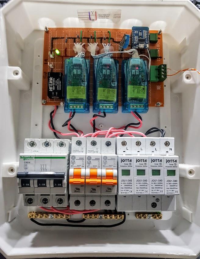 PZEM-004T 3 Phase Monitoring