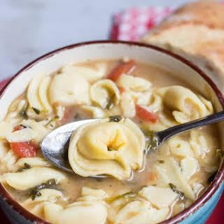 Crock Pot Cheese Tortellini Soup.